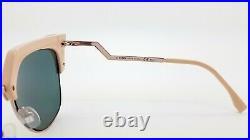 New Fendi sunglasses Cat Eye FF0149/S Z8C 54mm Pink Rose Gold Mirror AUTHENTIC