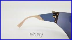 New Fendi sunglasses FF0382/S 35J0J Rhinestone F Gold Mirror Shield GENUINE