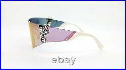 New Fendi sunglasses FF0382/S J5GUE Rhinestone F Rose Gold Mirror Shield