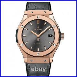New Hublot Classic Fusion 18k Rose Gold Automatic 42 mm Watch 542. OX. 7081. LR