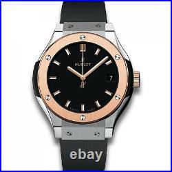 New Hublot Classic Fusion Titanium and Rose Gold Quartz Watch 581. NO. 1181. RX