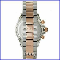New Hugo Boss Hb1513339 Ikon Silver & Rose Gold Genuine Men's Watch Chronograph