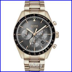 New Hugo Boss Hb1513632 Trophy Grey & Rose Gold Genuine Men's Watch Chronograph