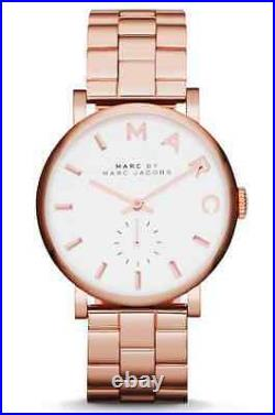 New Marc Jacobs Mbm3244 Ladies Rose Gold Baker Watch 2 Years Warranty