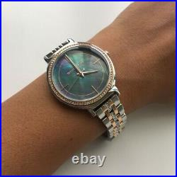 New Michael Kors Mk3642 Womens Cinthia Two-tone Watch 2 Years Warranty