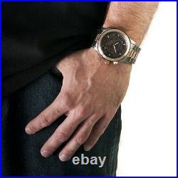 New Michael Kors Runway Watch Mk8189 Mens Black Rose Gold Two Tone Chronograph