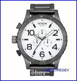 New Nixon Watch 51-30 All Gunmetal / White A083-681 Men's Dial Genuine Chrono