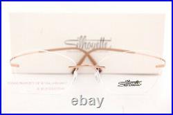 New Silhouette Eyeglass Frames TMA The Icon 5541 IY 3530 Radiant Rosegold Titan