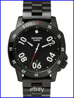 Nixon Ranger All Black A506 001 44mm Stainless Steel Watch FREE EXPRESS POST