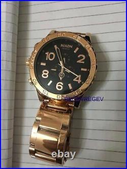 Nixon Watch 51-30 Chrono Rose Gold BLACK Men's A083-1932 A0831932 New genuine