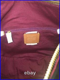 Nwt Coach Sutton Signature Canvas And Leather Shoulder Bag Tan Chalk