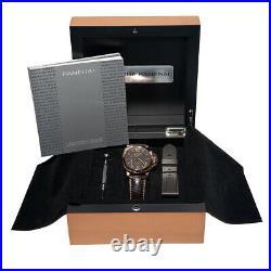PANERAI Rose Gold 44mm Luminor 8 DAYS GMT ORO ROSSO PAM 576 Warranty Box MINTY