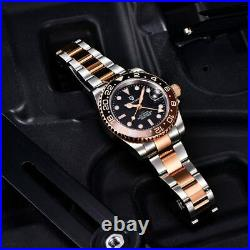 Pagani Design 1662 GMT Automatic Diver Watch Stainless Rose Gold 40mm Sapphire