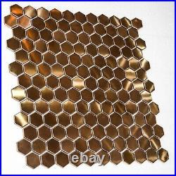 RG HEX Aluminium&Ceramic Mosaic Tile 1 sheet 30cmx30cm 8mm 11 sheets 1sqm