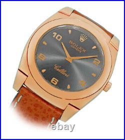 ROLEX 18K Rose Pink Gold 36mm Cellini Cestello Mechanical 5330 Box Warranty MINT