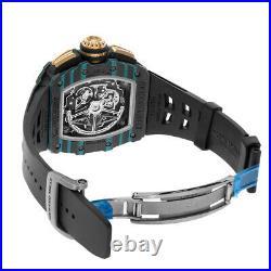 Richard Mille RM11-03 Carbon Turquoise Quartz TPT Skeleton Dial Watch RM11-03