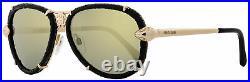Roberto Cavalli Aviator Sunglasses RC885S Mebsuta 28C Gold/Black 57mm 885