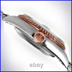 Rolex 36mm Rhodium Jubilee Roman Everose Rose 18K Gold Jubilee Datejust Gray