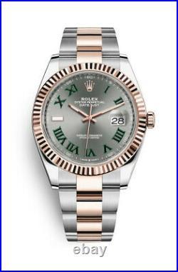 Rolex Datejust 126231 New July 2021 Wimbledon Dial 18k Everose 36mm Box&Card