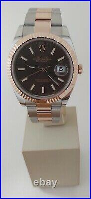 Rolex Datejust 126331 Steel & Rose Gold Choco Dial 2021 Unworn Full Set