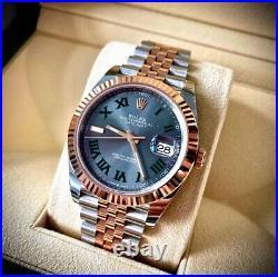 Rolex Datejust 41 126331 Steel + Rose Gold Wimbledon Dial 2021 Brand Newithunworn