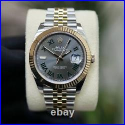 Rolex Datejust 41mm 126333 Bi Colour Wimbledon Dial 2021 Unworn