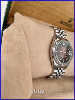 Rolex Oyster Perpetual Datejust -Original Red/Black Vignette dial 1601