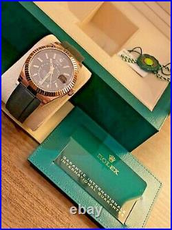 Rolex Sky-Dweller Oysterflex 326235 Chocolate dial Box and Papers Brand New 2021