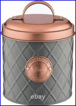 Rose Gold Kitchen Set Breville Curve Jug Kettle Four Slice Toaster Storage GREY