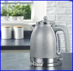 Sparkling Kettle, 4 Slice Toaster & Kettle Stunning kitchen Set. Grey
