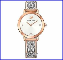 Swarovski 5376092 Cosmic Rock Watch, Silver Crystal/Rose Gold Plated RRP$499