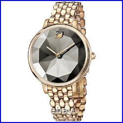 Swarovski 5416023 Crystal Lake Watch, Metal Strap, Gray, Rose Gold Tone RRP$649