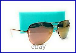 TIFFANY TF3066 61054Z Rubedo Mirror Rose Gold Women's Sunglasses 62 mm