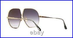 Tom Ford TARA FT 0785 Shiny Rose Gold/Grey Shaded (28B) Sunglasses