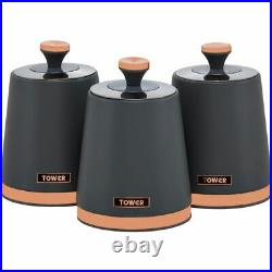 Tower AOBUNDLE021 Cavaletto Kettle and Toaster Set Grey / Rose Gold