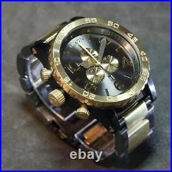 US NEW Authentic NIXON Watch Mens 51-30 CHRONO Gunmetal & Gold A083595 Mens GIFT