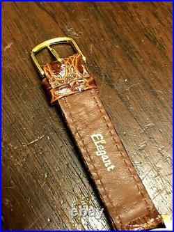 Vintage 18k Rose Gold Chronograph Ogival Mens Wrist Watch Working Great