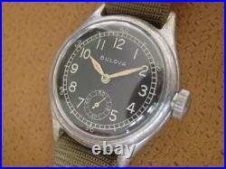 Vintage Bulova U. S. Military Issue Wrist Watch. Cal. 10AK