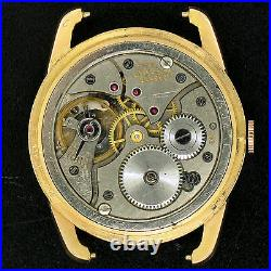 Vintage Men's 18K Rose Gold Universal Geneve Manual Wind Fancy Lug Wrist Watch